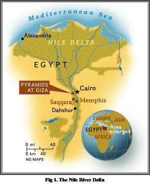 Biblical Archeology During The Egyptian Period - Map of egypt in bible times