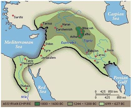 Assyrian Empire Map