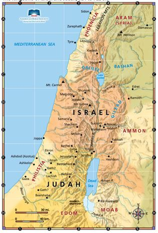 Israel and Judah map