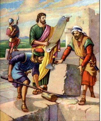 Nehemiah building the wall