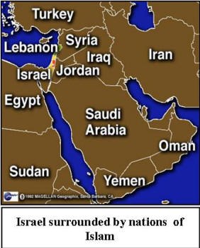 Image result for image of Israel surrounded